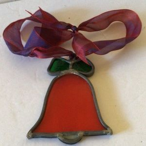 Stained Glass Bell Christmas Decor